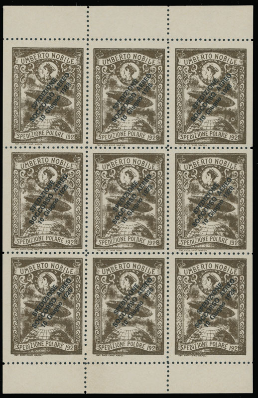Lot 1556 - Worldwide Topical issues - North Pole Exploration Italy -  Raritan Stamps Inc. Live Bidding Auction #89