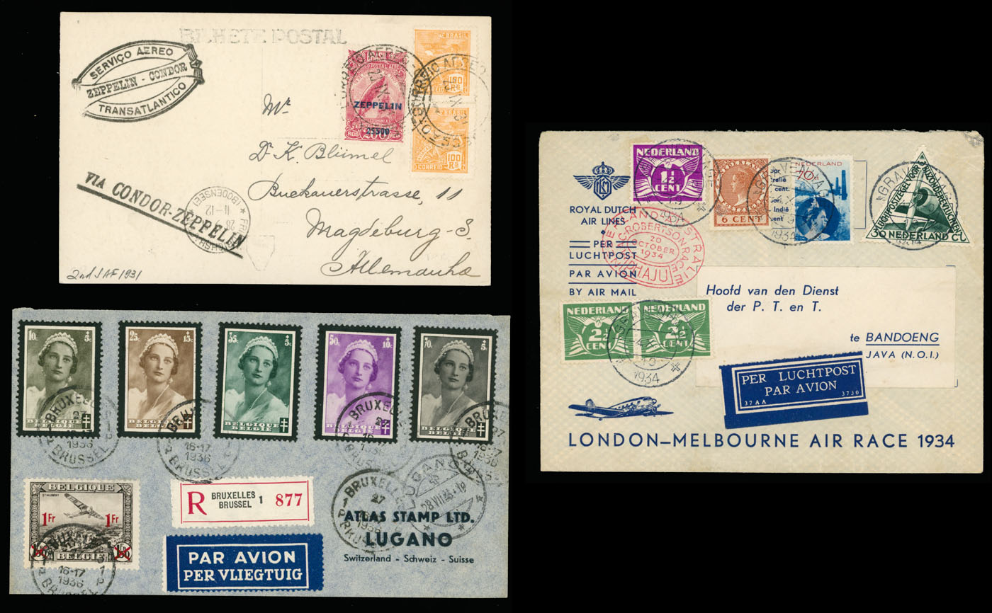 Lot 1562 - Worldwide Topical issues - Air Post items  -  Raritan Stamps Inc. Live Bidding Auction #89