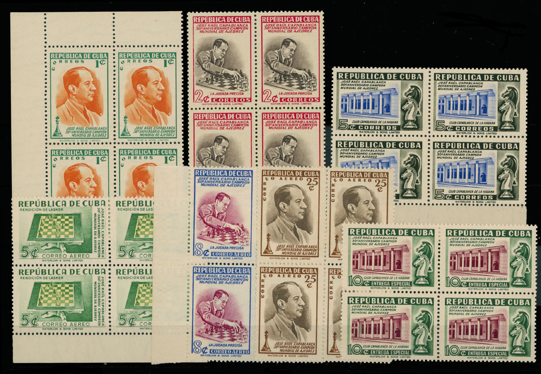 Lot 1563 - Worldwide Topical Issues - Chess Cuba -  Raritan Stamps Inc. Live Bidding Auction #89