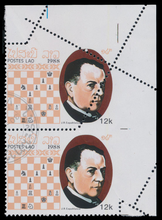 Lot 1564 - Worldwide Topical Issues - Chess Laos -  Raritan Stamps Inc. Live Bidding Auction #89