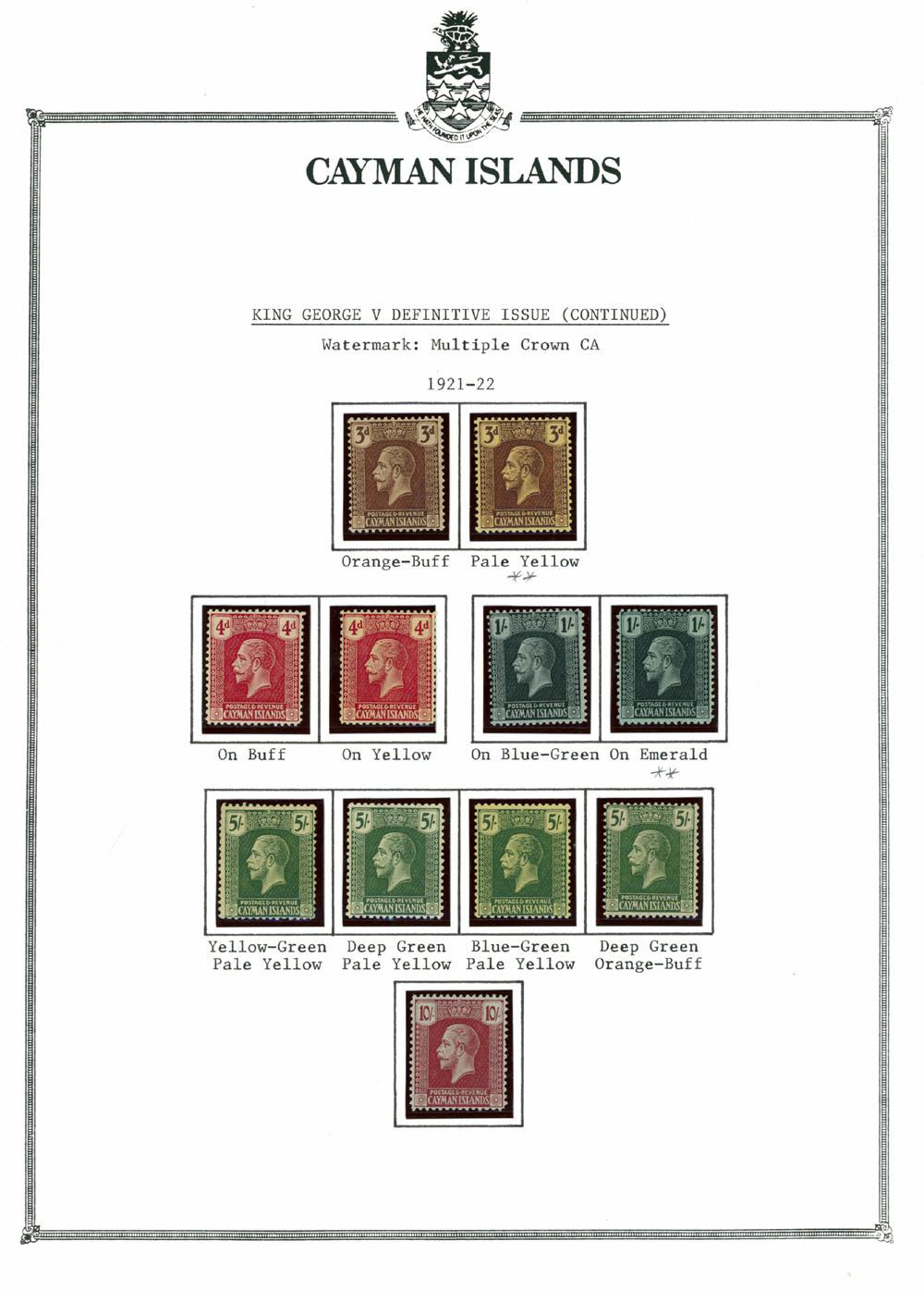 Lot 215 - British Commonwealth cayman islands -  Raritan Stamps Inc. Live Bidding Auction #89
