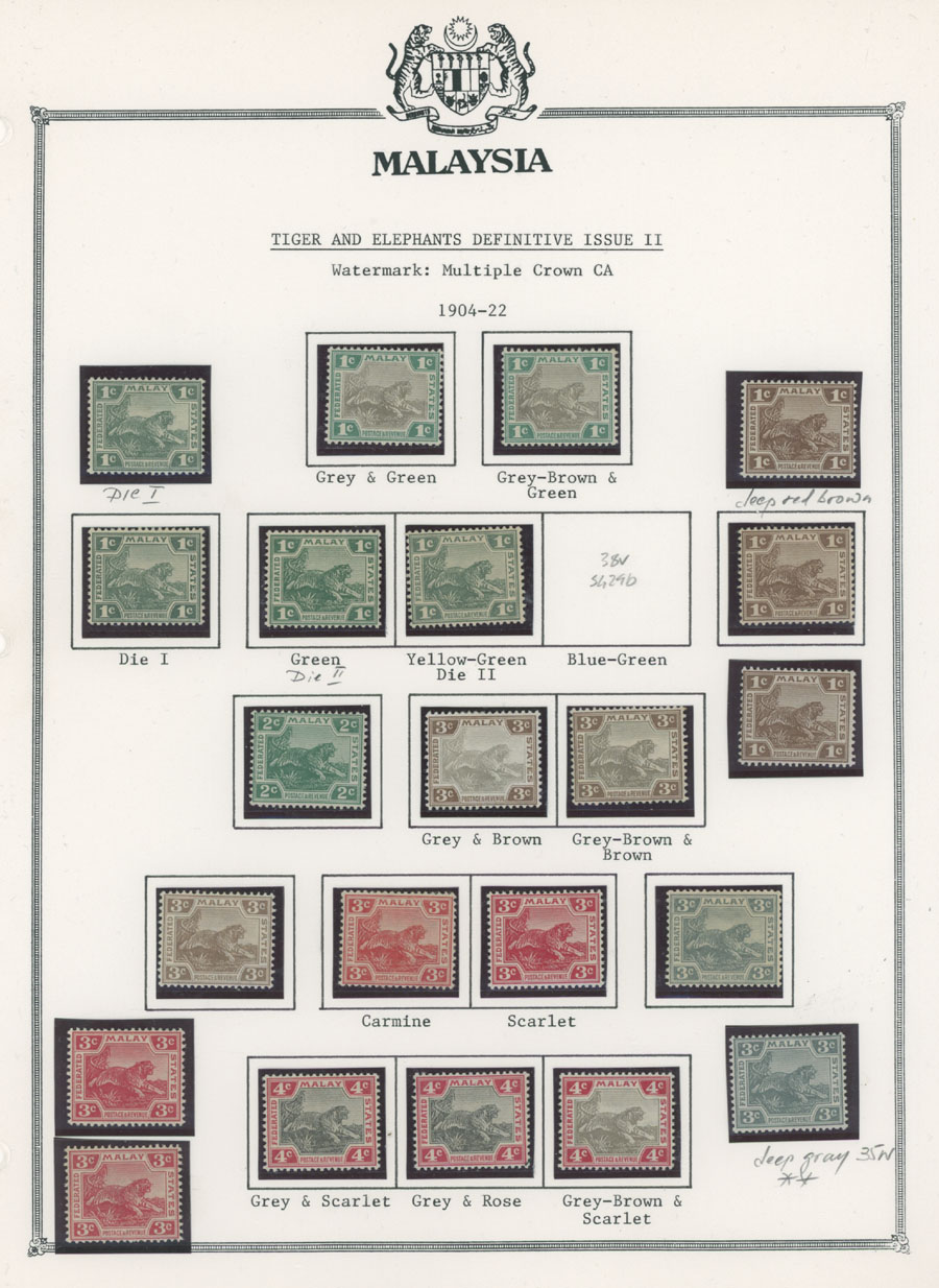 Lot 280 - British Commonwealth federated malay states -  Raritan Stamps Inc. Live Bidding Auction #89