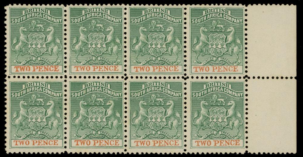Lot 399 - British Commonwealth Rhodesia  - British South Africa Company -  Raritan Stamps Inc. Live Bidding Auction #89