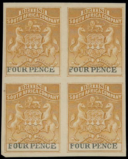 Lot 400 - British Commonwealth Rhodesia  - British South Africa Company -  Raritan Stamps Inc. Live Bidding Auction #89