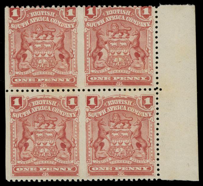 Lot 402 - British Commonwealth Rhodesia  - British South Africa Company -  Raritan Stamps Inc. Live Bidding Auction #89