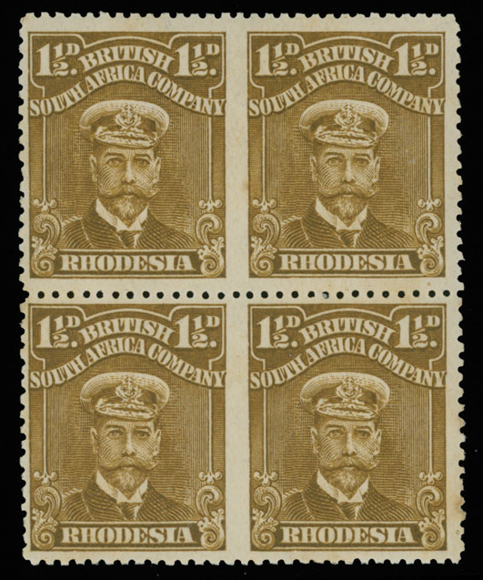 Lot 406 - British Commonwealth Rhodesia  - British South Africa Company -  Raritan Stamps Inc. Live Bidding Auction #89