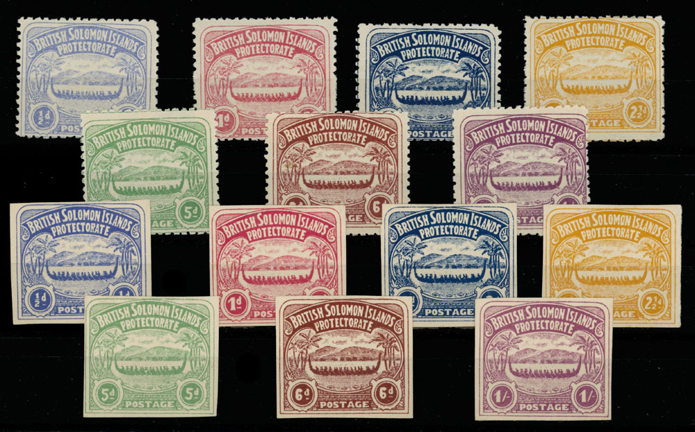 Lot 442 - British Commonwealth solomon islands -  Raritan Stamps Inc. Live Bidding Auction #89