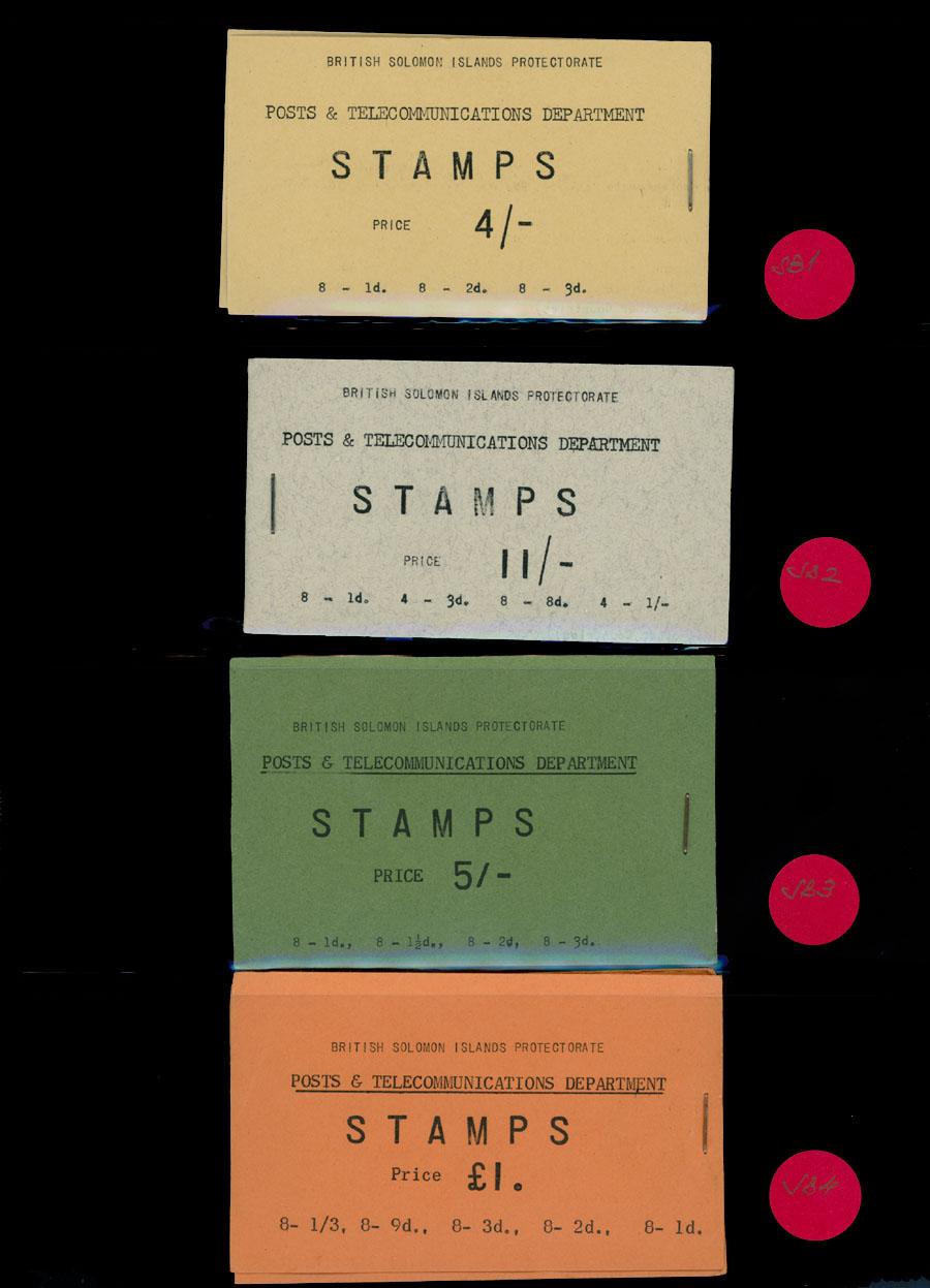 Lot 444 - British Commonwealth Solomon Islands  - Stamp Booklets -  Raritan Stamps Inc. Live Bidding Auction #89