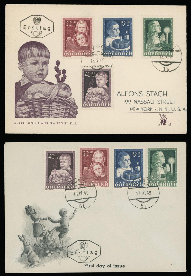 Lot 547 - Austria semi - postal issues -  Raritan Stamps Inc. Live Bidding Auction #89