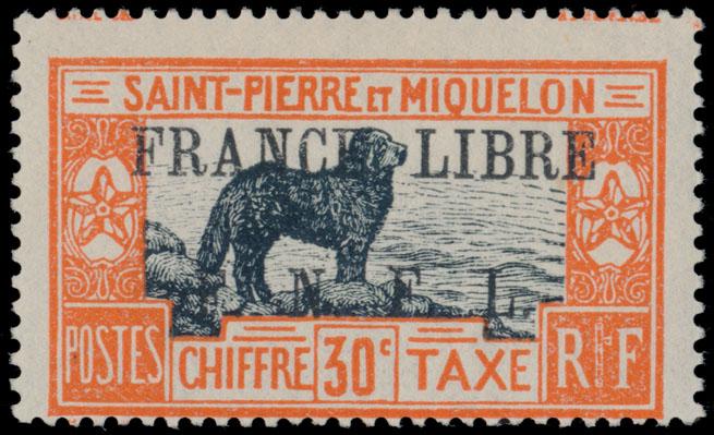 Lot 621 - french colonies Saint Pierre and Miquelon - Postage Due stamps -  Raritan Stamps Inc. Live Bidding Auction #89