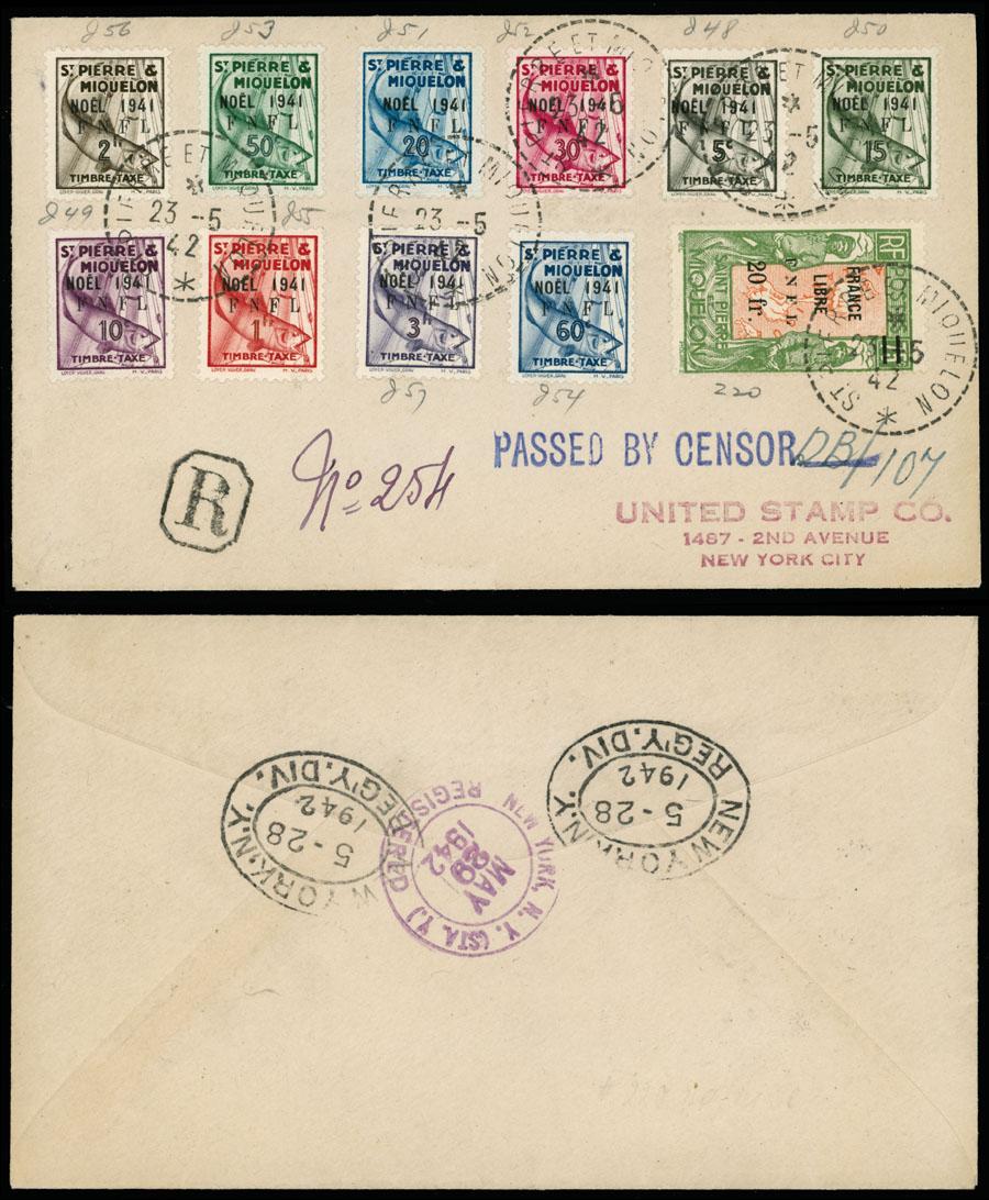 Lot 622 - french colonies Saint Pierre and Miquelon - Postage Due stamps -  Raritan Stamps Inc. Live Bidding Auction #89