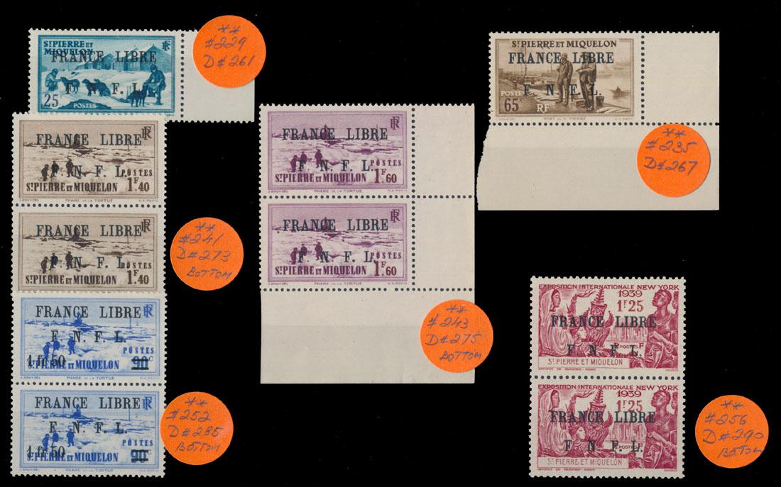 Lot 624 - french colonies Saint Pierre and Miquelon - Variety -  Raritan Stamps Inc. Live Bidding Auction #89