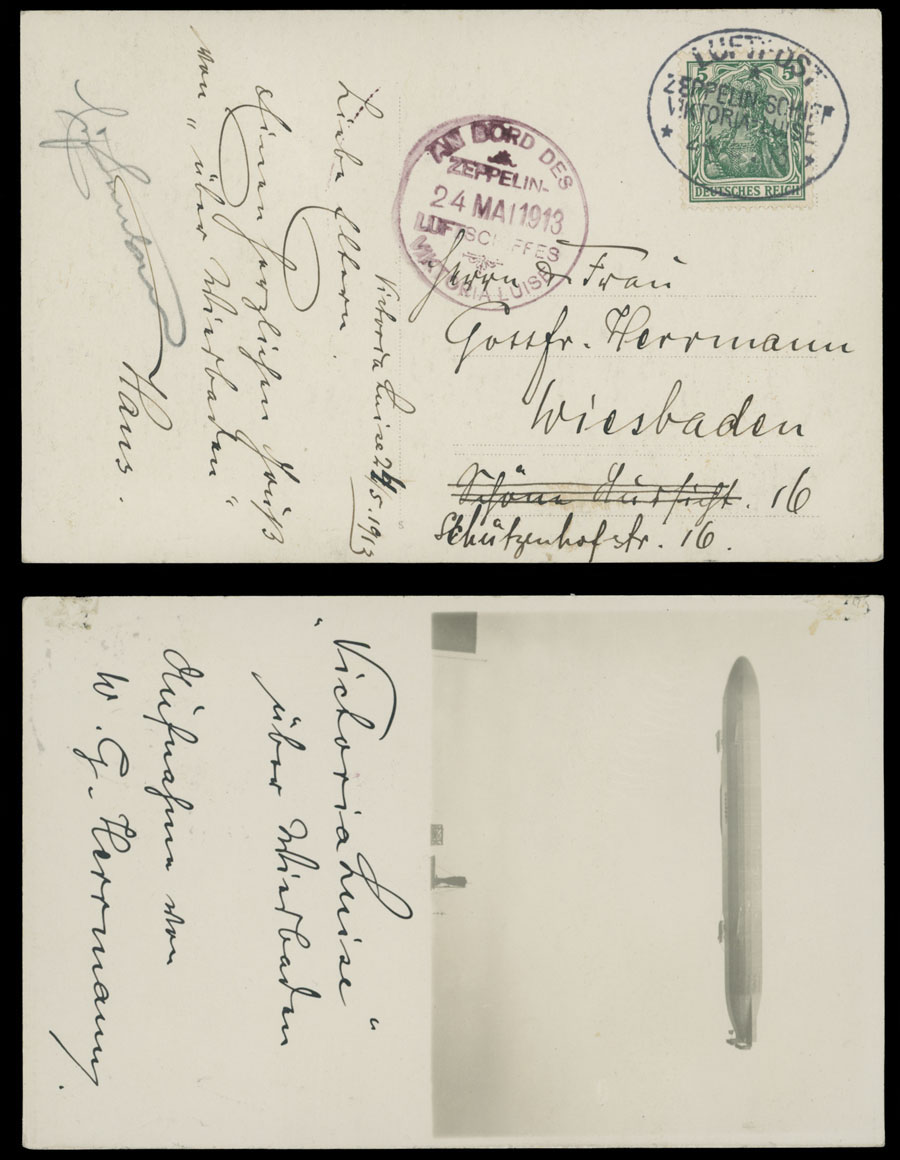 Lot 638 - germany zeppelin flights -  Raritan Stamps Inc. Live Bidding Auction #89