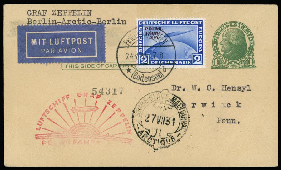 Lot 643 - germany zeppelin flights -  Raritan Stamps Inc. Live Bidding Auction #89