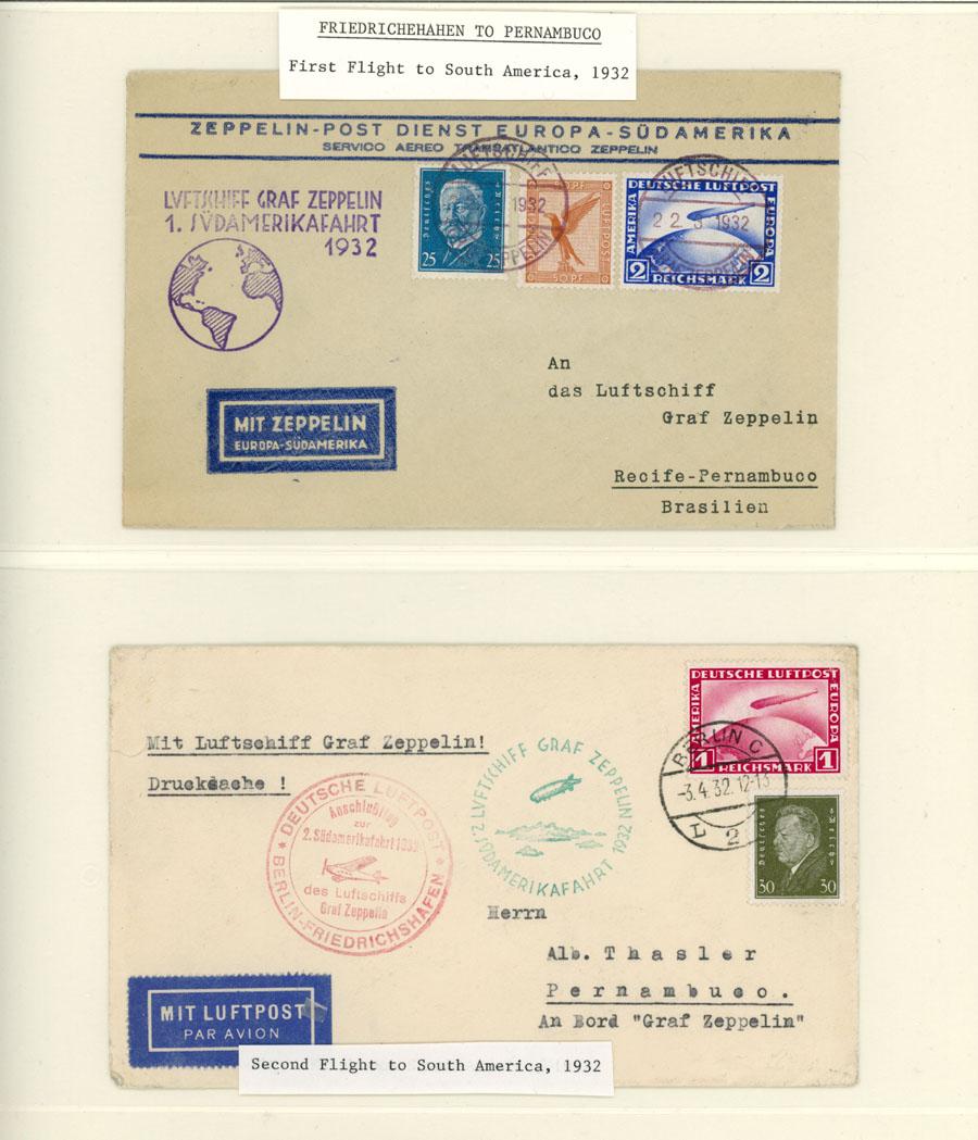 Lot 646 - germany zeppelin flights -  Raritan Stamps Inc. Live Bidding Auction #89