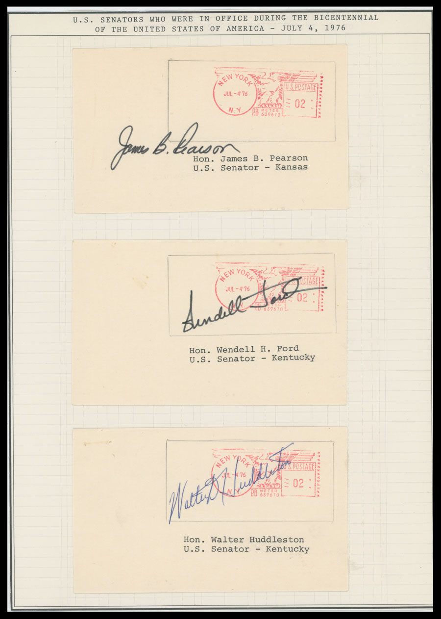 Lot 7 - autographs of famous people The Frank M. Rudon Collection -  Raritan Stamps Inc. Live Bidding Auction #89