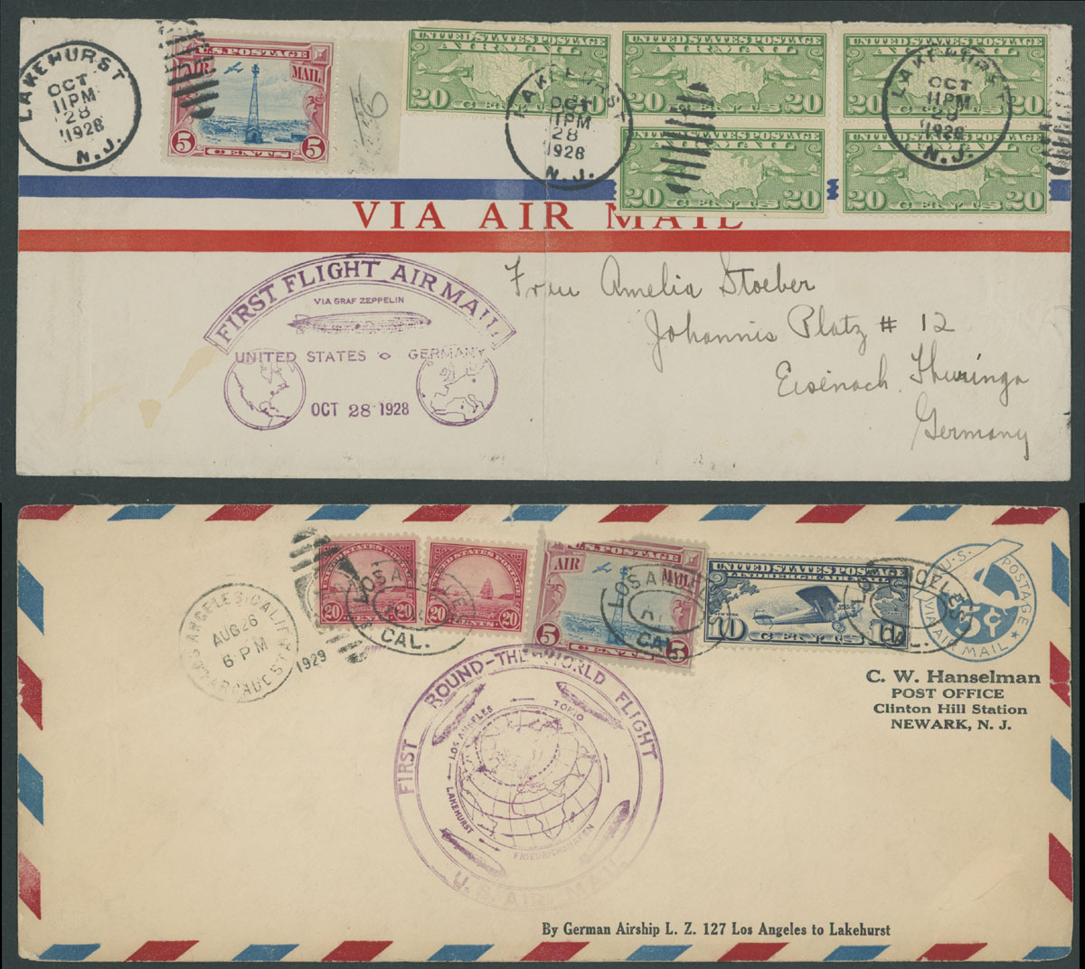 Lot 73 - united states air post stamps and covers -  Raritan Stamps Inc. Live Bidding Auction #89