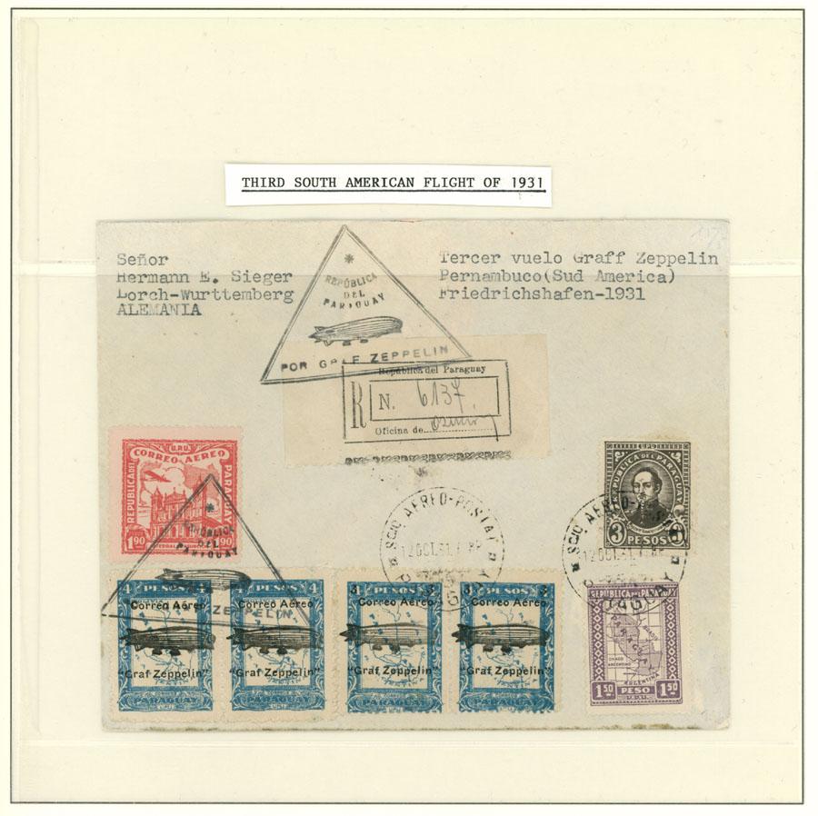Lot 915 - Paraguay zeppelin flights -  Raritan Stamps Inc. Live Bidding Auction #89