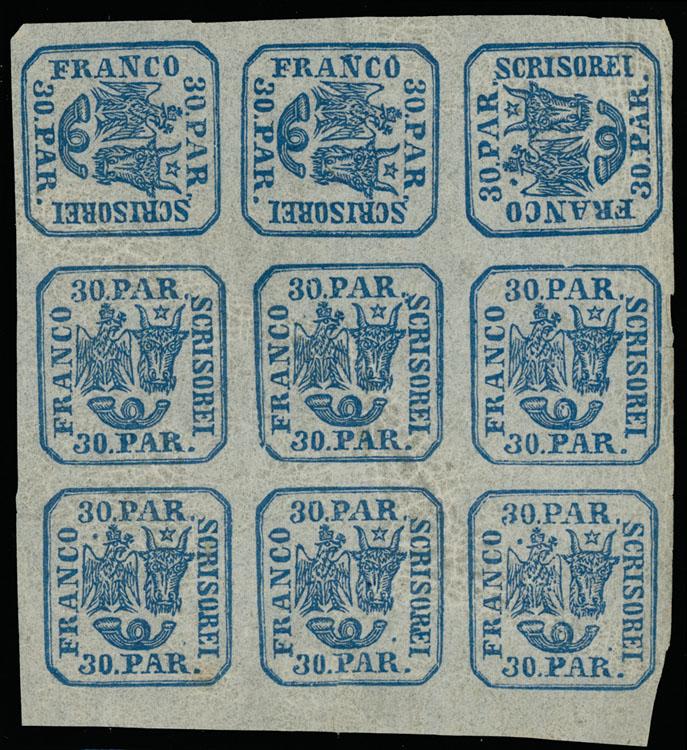 Lot 939 - Romania Moldavia - Walachia -  Raritan Stamps Inc. Live Bidding Auction #89