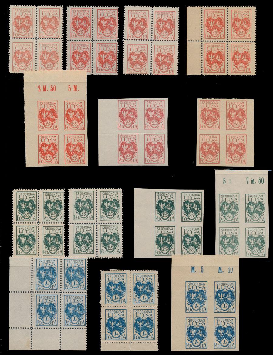 Lot 582 - central lithuania  -  Raritan Stamps Inc. Live Bidding Auction #90