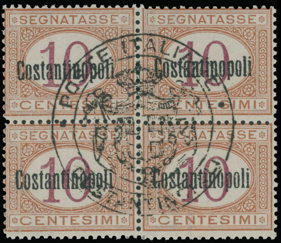 Lot 688 - Italy - Offices in Levant Postage due stamps -  Raritan Stamps Inc. Live Bidding Auction #90